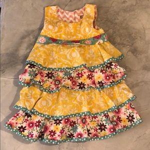 Girls size 4 jelly the pug dress